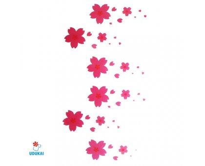 Laikina tatuiruotė Gėlės-B17; 10x6cm