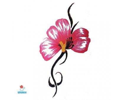 Laikina tatuiruotė Gėlė-B26; 10x6cm