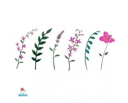 Laikina tatuiruotė Gėlės-B27; 10x6cm