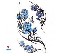 Laikina tatuiruotė Gėlės-C07; 10x6cm