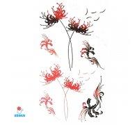Laikina tatuiruotė Gėlės-C15; 10x6cm
