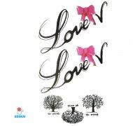 Laikina tatuiruotė Love-C20; 10x6cm