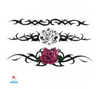 Laikina tatuiruotė Ornamentai-C24; 10x6cm