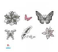 Laikina tatuiruotė Ornamentai-C25; 10x6cm