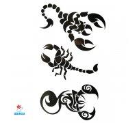 Laikina tatuiruotė Skorpionas-D17; 10x6cm
