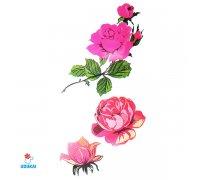 Laikina tatuiruotė Rožės-E03; 10x6cm