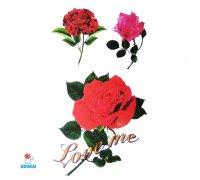Laikina tatuiruotė Rožės-E04; 10x6cm