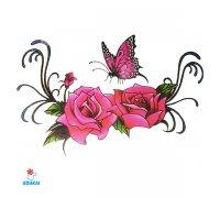 Laikina tatuiruotė Rožės-E05; 10x6cm