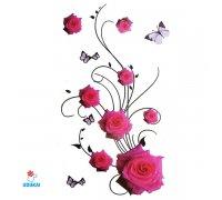 Laikina tatuiruotė Rožės-E11; 10x6cm