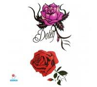 Laikina tatuiruotė Rožės-E12; 10x6cm