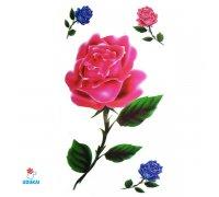 Laikina tatuiruotė Rožė-E16; 10x6cm