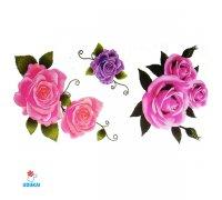 Laikina tatuiruotė Rožės-E18; 10x6cm