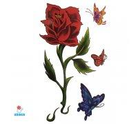 Laikina tatuiruotė Rožė-E21; 10x6cm