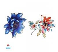 Laikina tatuiruotė Gėlės-E24; 10x6cm