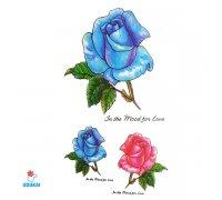 Laikina tatuiruotė Rožės-E26; 10x6cm