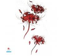 Laikina tatuiruotė Gėlės-F11; 10x6cm