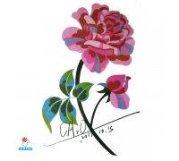 Laikina tatuiruotė Gėlės-F18; 10x6cm