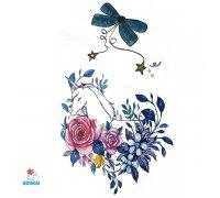 Laikina tatuiruotė Gėlės-F19; 10x6cm