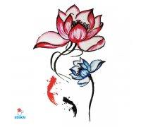 Laikina tatuiruotė Gėlės-G02; 10x6cm