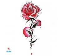 Laikina tatuiruotė Gėlė-G13; 10x6cm