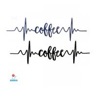 Laikina tatuiruotė Coffee-G14; 10x6cm