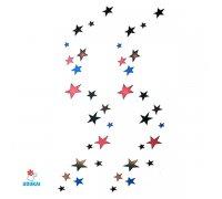Laikina tatuiruotė Žvaigždės-A015; 10x6cm