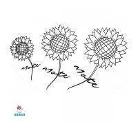 Laikina tatuiruotė Gėlės-NA017; 10x6cm
