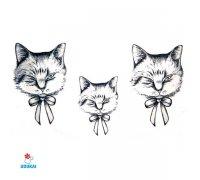 Laikina tatuiruotė Katinas-A024; 10x6cm