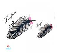 Laikina tatuiruotė Plunksna-NA029; 10x6cm
