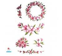 Laikina tatuiruotė Gėlės-A036; 10x6cm