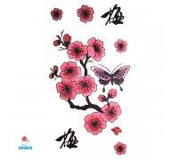 Laikina tatuiruotė Sakura-A040; 10x6cm