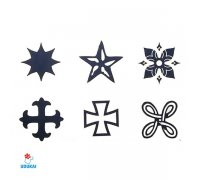 Laikina tatuiruotė Ornamentas-B006; 10x6cm