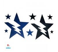 Laikina tatuiruotė Žvaigždės-NB026; 10x6cm