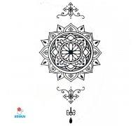 Laikina tatuiruotė Ornamentas-B039; 10x6cm