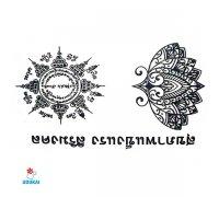 Laikina tatuiruotė Ornamentas-NB040; 10x6cm