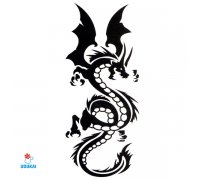 Laikina tatuiruotė Drakonas-X422; 10x6cm
