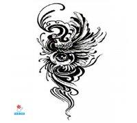 Laikina tatuiruotė Ornamentas-TBS8021; 19x12cm