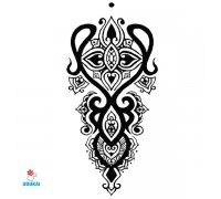 Laikina tatuiruotė Ornamentas-TBS8022; 19x12cm
