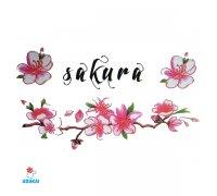 Laikina tatuiruotė Sakura-W009; 10x6cm