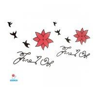 Laikina tatuiruotė Mix-W013; 10x6cm