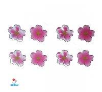 Laikina tatuiruotė Gėlės-W014; 10x6cm