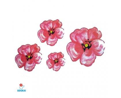 Laikina tatuiruotė Gėlės-W025; 10x6cm