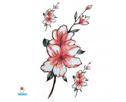 Laikina tatuiruotė Gėlės-W036; 10x6cm