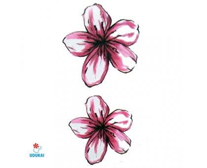 Laikina tatuiruotė Gėlės-W037; 10x6cm