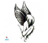 Laikina tatuiruotė Angelas-W039; 10x6cm
