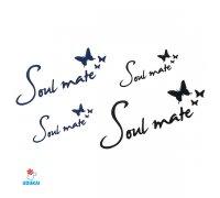 Laikina tatuiruotė Soul mate-W040; 10x6cm