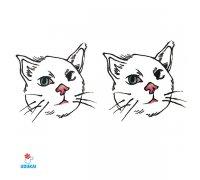 Laikina tatuiruotė Katinai-W045; 10x6cm