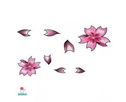 Laikina tatuiruotė Gėlės-W046; 10x6cm