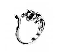 Žiedas Katė juodom akytėm; universalaus dydžio