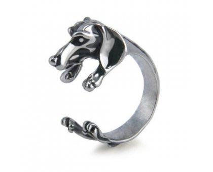 Žiedas Šuniukas sidabro spalvos; universalaus dydžio